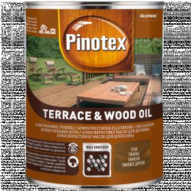 Alyva medienai Pinotex Terrace&Wood Oil, tikmedžio sp., 1 l