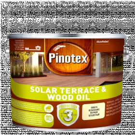Alyva medienai Pinotex Solar Terrace Oil, CLR bazė, 9.3 l