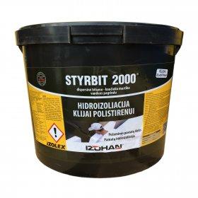 Bitumo - kaučiuko mastika Styrbit 2000, vandens pagrindu, 10kg, (55)