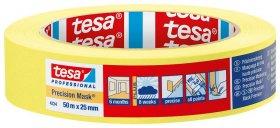 Dažymo juosta TESA, lygiems dažų kraštams, geltona, 50mX30mm (04334)