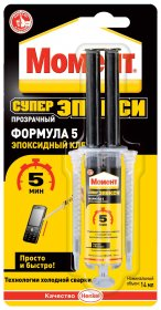 Klijai epoksidiniai Moment Super Epoxy 5min 2 komp., 14ml
