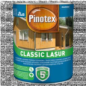 Pinotex Classic Lasur, raudonmedis, 3 l