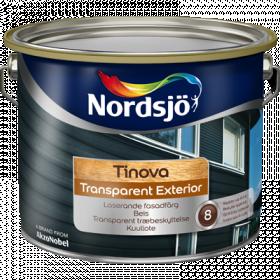 Dažai Nordsjo TINOVA TRANSPARENT EXTERIOR, BC bazė, 9.3 l