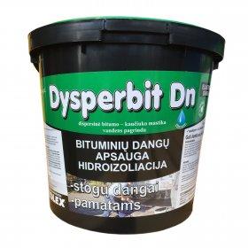 Bitumo - kaučiuko mastika Dysperbit DN vandens pagrindu, 10kg (55)