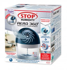 Sugėrėjas drėgmės Stop HUMIDITY AERO TAB 360°+450g tablete