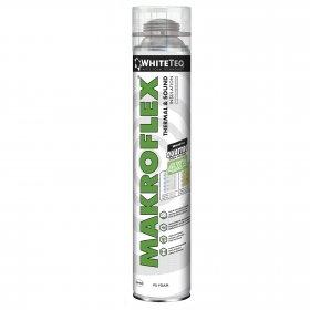 PU montažinės putos MAKROFLEX  PRO WHITETEQ, 750ml (12 vnt. dėž.)