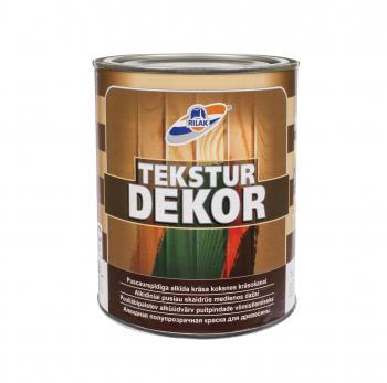 Dažai medienai Rilak TEKSTŪRDEKOR, rudi tamsiai, 0.9 l