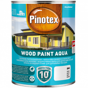 Dažai Pinotex Wood Paint Aqua, BM bazė (tonuojama), 2.38 l