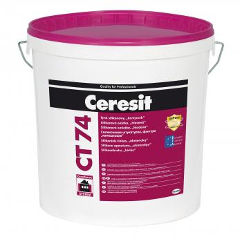 """Tinkas Ceresit CT74, frakcija 1.5mm, silikoninis, """"samanėlė"""". 25kg"""