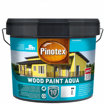 Dažai Pinotex Wood Paint Aqua, geltona sp., 9 l