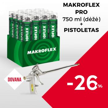 Makroflex PRO dėžė (16vnt.) + Pistoletas