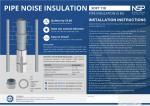 Izoliacija garsui vamzdyne slopinti Alenor NSP Soft PRO 110, 3m