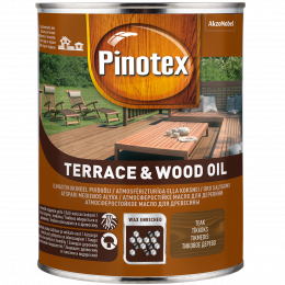 Alyva medienai Pinotex Terrace&Wood Oil, tikmedžio sp., 1 l