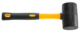 Plaktukas guminis juodas 2 komp. rankena, Ø65mm, (2028-920065)
