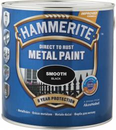 Dažai HAMMERITE SMOOTH FINISH, mėlyni, 0,75 l
