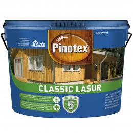 Impregnantas medienai Pinotex Classic Lasur, tikmedžio sp., 10 l