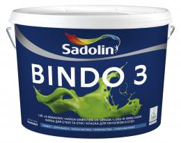 Dažai Sadolin BINDO 3, BW bazė, 10 l
