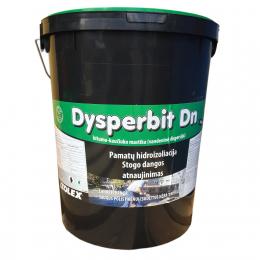 Bitumo - kaučiuko mastika Dysperbit DN vandens pagrindu, 20kg, (33)