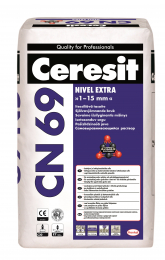 Mišinys Ceresit CN69 grindų išlyginimui 1-15mm, 25kg