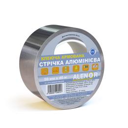 Juosta lipni aliuminė Alenor 50mmx40m, armuota tinkleliu (24)