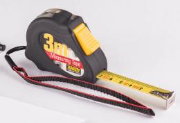 Ruletė juoda, 3m x 16mm, (0700-441603)