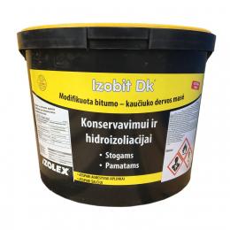 Bitumo - kaučiuko mastika Izobit DK, skiediklio pagrindu, 10kg, (55)