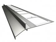 Balkonų ir terasų užbaigimo profilis-K30, 2m, spalva RAL7024 (tamsiai pilka)